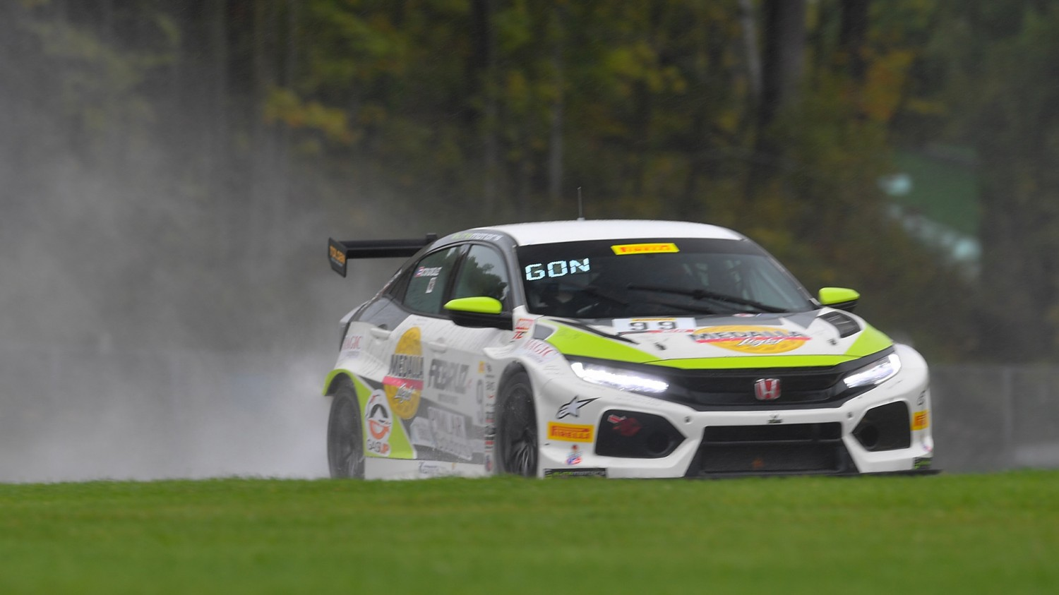 Gonzalez Conquers Slippery Road America to Claim TCR Victory; Mat Pombo Takes Wet and Wild TCA Win