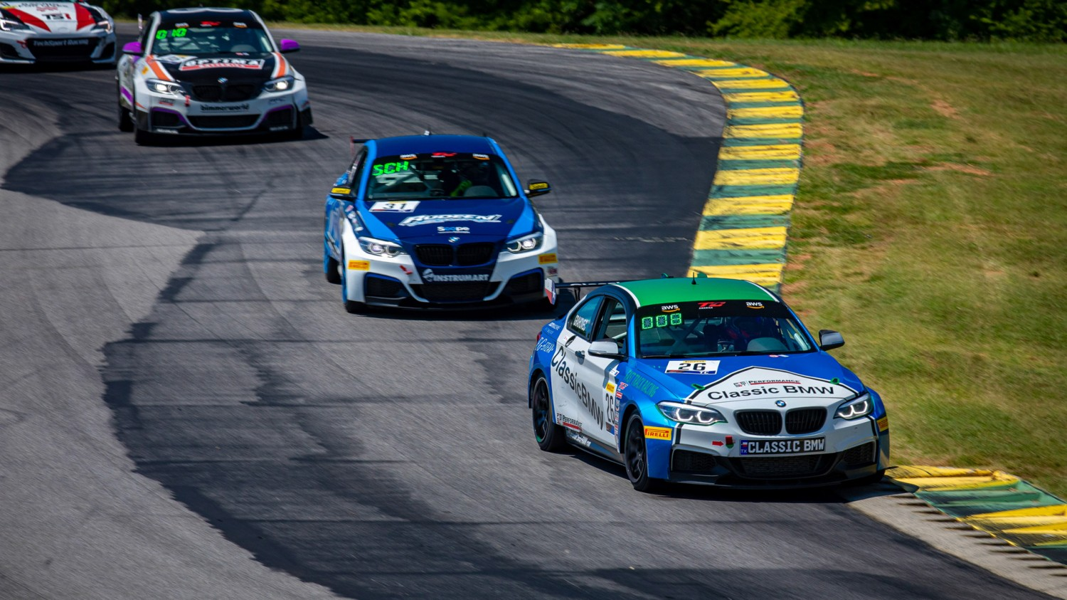 Fast Track Racing/Classic BMW Team Scores GT4 SprintX, TC Wins  At VIR in SRO America Tripleheader Sports Car Competition
