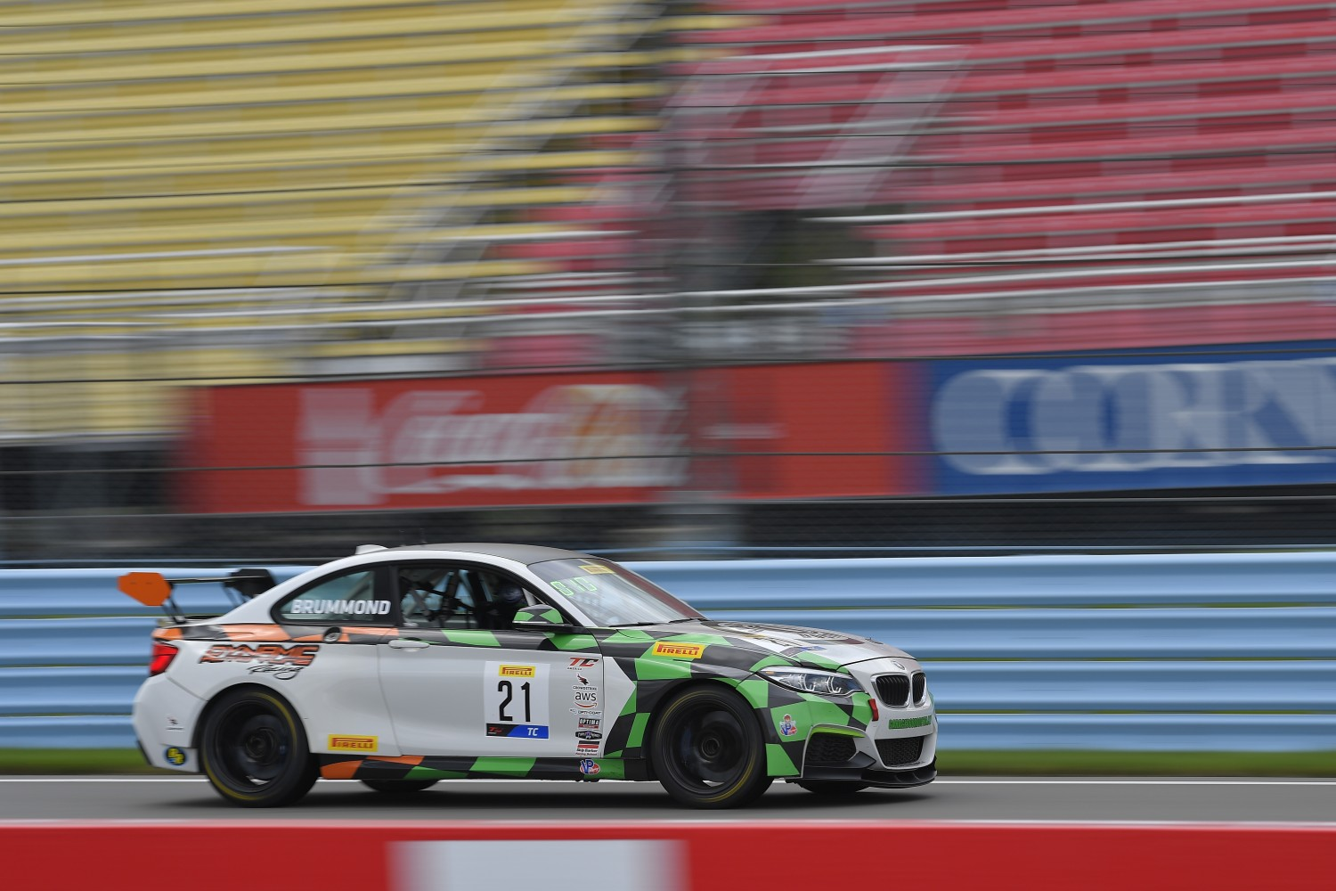 #21 BMW M240iR Cup of Mark Brummond  with Auto Technic Racing  Watkins Glen World Challenge America , Watkins Glen NY   | Gavin Baker/SRO
