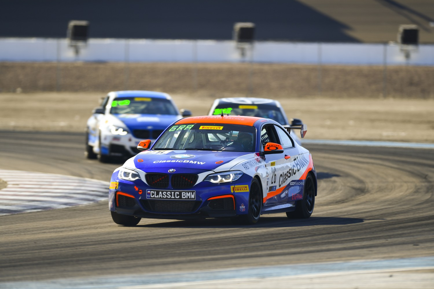 #26 BMW M240iR Cup of Toby Grahovec  with Classic BMW  2019 Blancpain GT World Challenge America - Las Vegas, Las Vegas NV | Gavin Baker/SRO