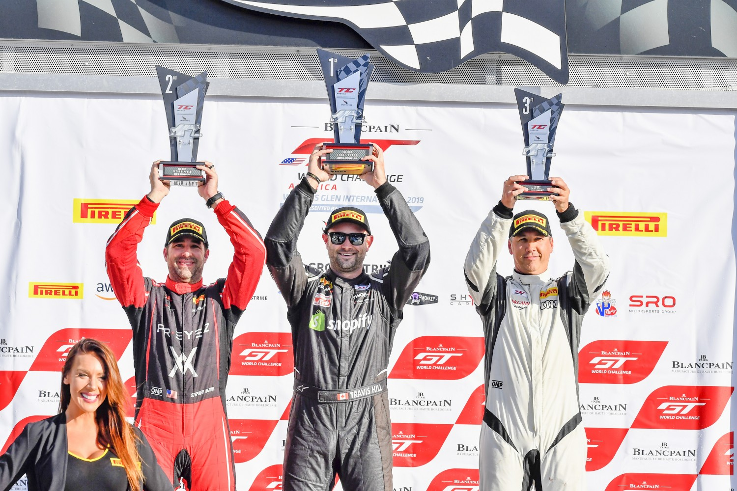 TCR/TCA Race 2 Podium, Watkins Glen World Challenge America, Watkins Glen NY