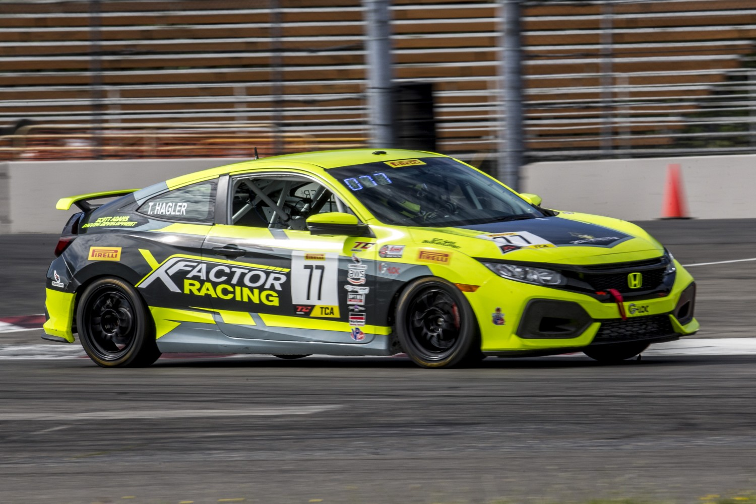 #77 Honda Civic Si of Taylor Hagler, Rose Cup Races, Portland OR  | Brian Cleary/SRO