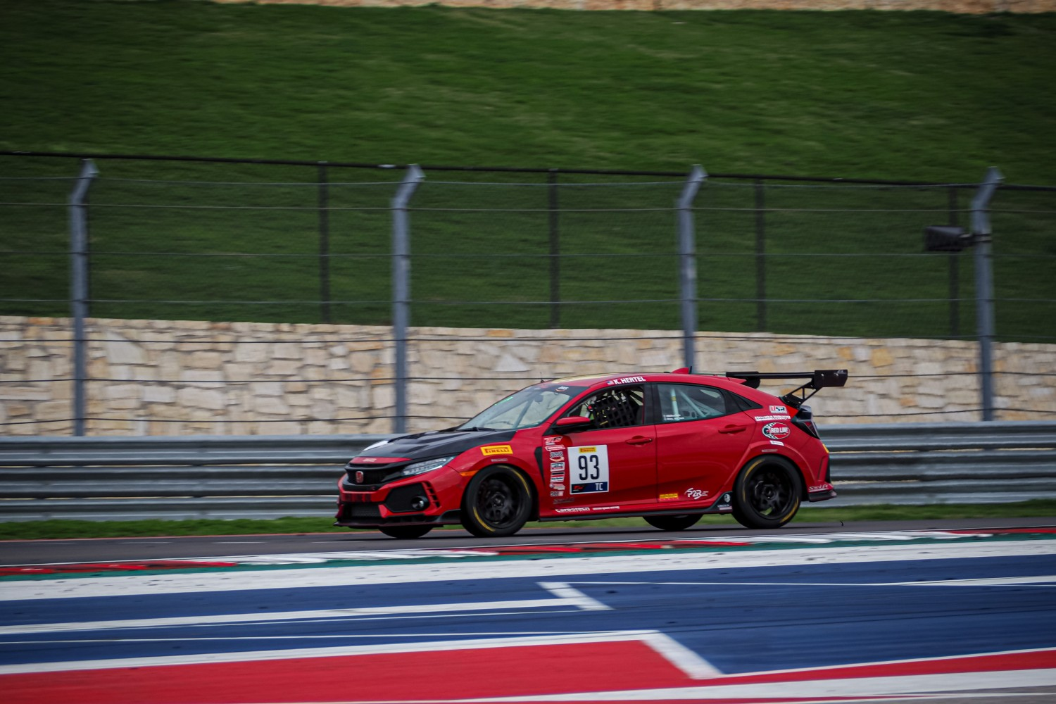 #93 TC, Team HMA, Karl Hertel, Honda Civic Type-R, 2020 SRO Motorsports Group - Circuit of the Americas, Austin TX  | SRO Motorsports Group
