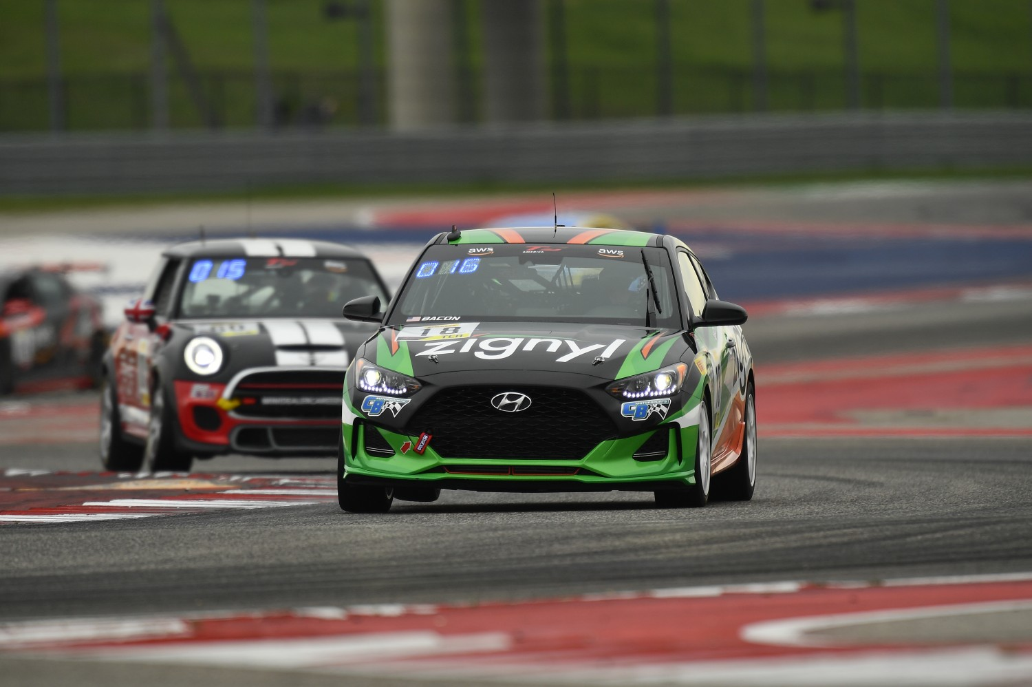 #18 TCA, CB Motorsports, Caleb Bacon, Hyundai Veloster Turbo, 2020 SRO Motorsports Group - Circuit of the Americas, Austin TX  | SRO Motorsports Group
