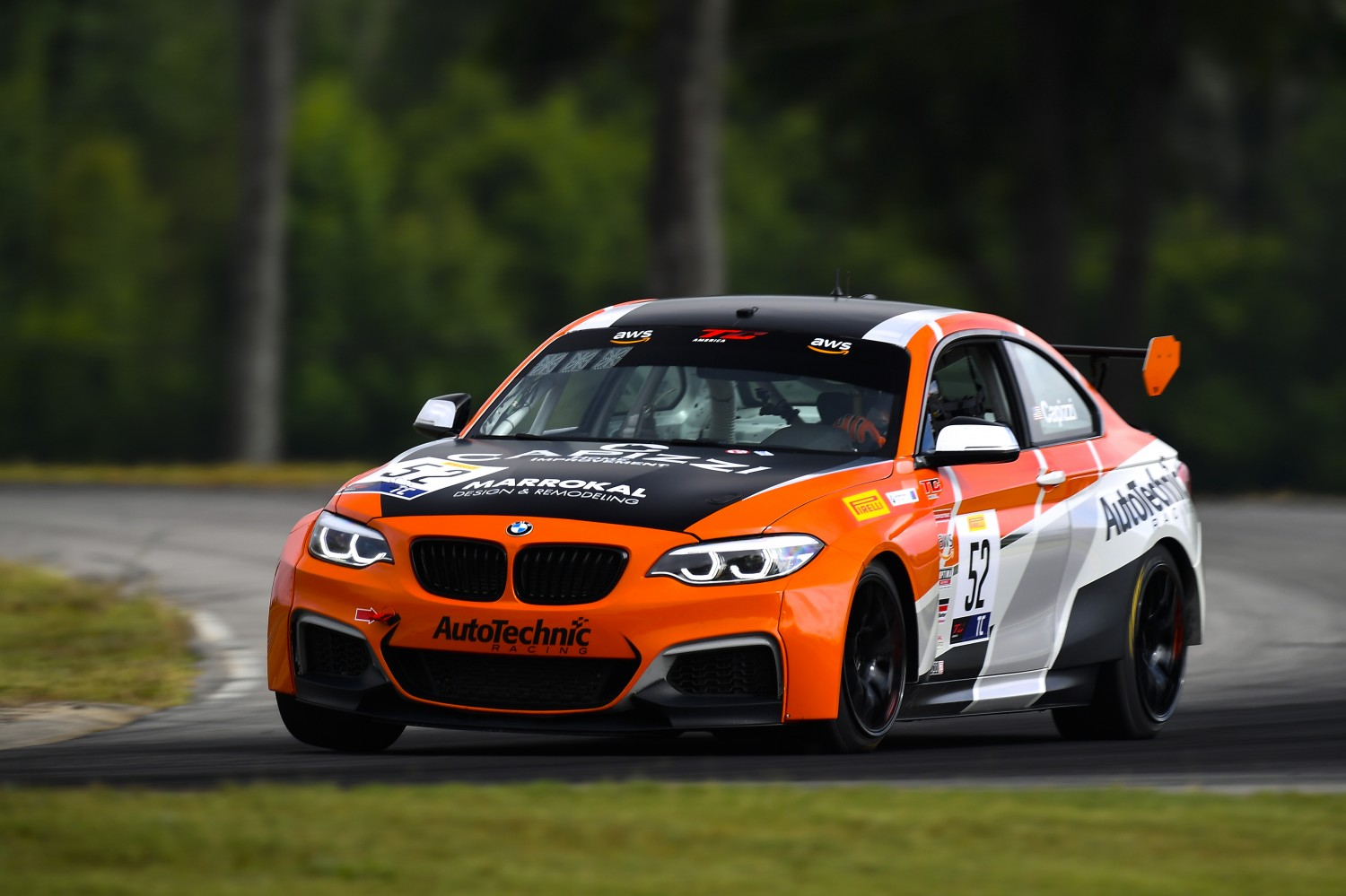 #52 TC, Auto Technic Racing, Tom Capizzi, BMW M240iR Cup, Capizzi Home Improvement, Marrokal Design & Remodeling, AutoTechnic Racing, 2020 SRO Motorsports Group - VIRginia International Raceway, Alton VA  | SRO Motorsports Group