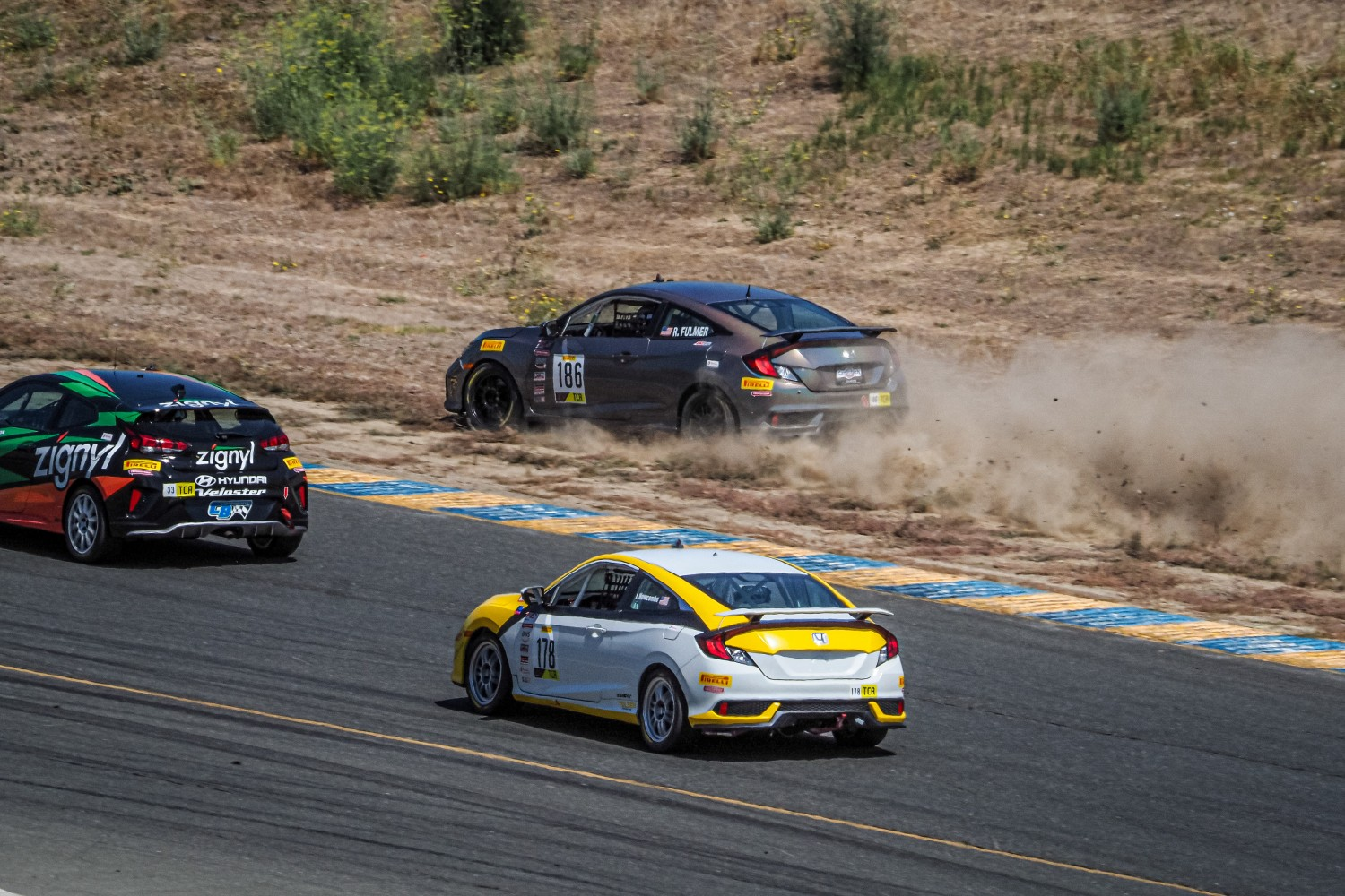 #186 Honda Civic Si of Roy Fulmer IV, CCR Team TFB, TCA, 2020 SRO Motorsports Group - Sonoma Raceway, Sonoma CA  | Brian Cleary