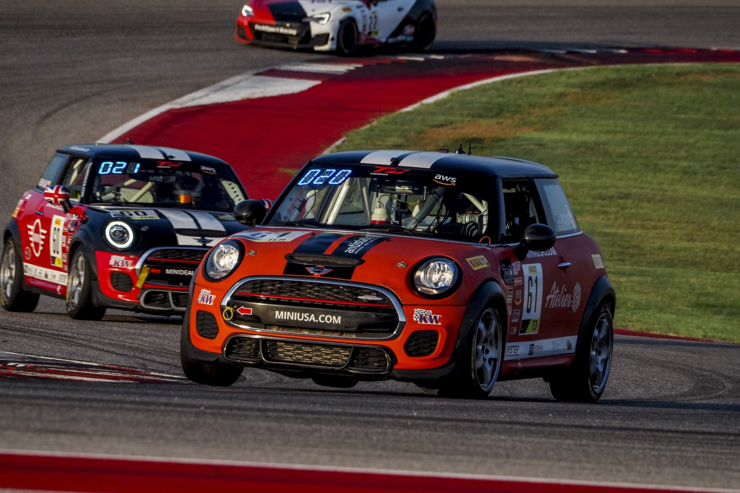 #61 MINI Cooper JCW of Mark Pombo, MINI JCW Team, TCA, SRO America, Circuit of the Americas, Austin TX, September 2020.  | Brian Cleary/SRO