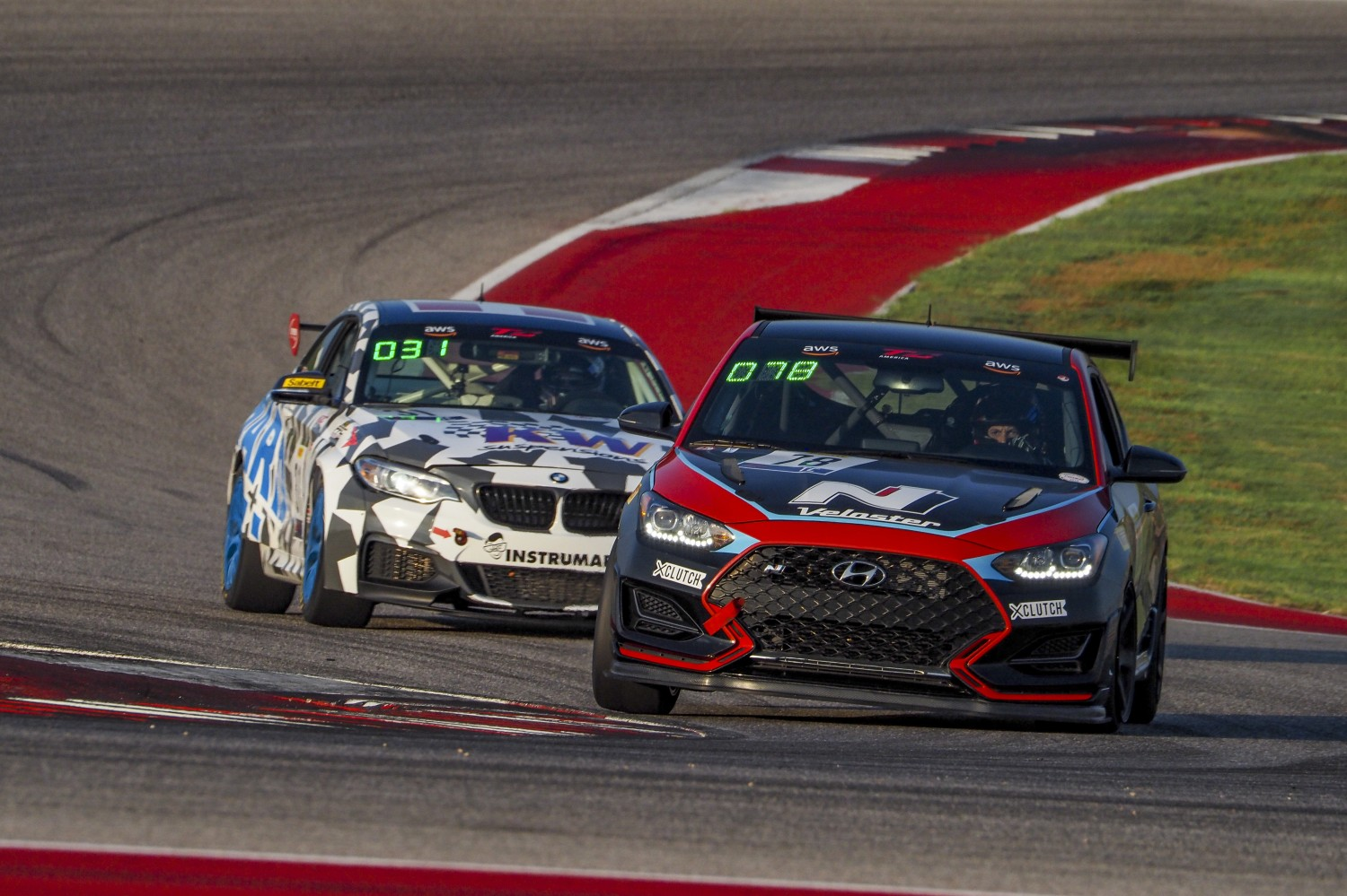 #78 Hyundai Veloster N of Jeff Ricca, GenRacer/Ricca Autosport, TC, SRO America, Circuit of the Americas, Austin TX, September 2020.  | Brian Cleary/SRO
