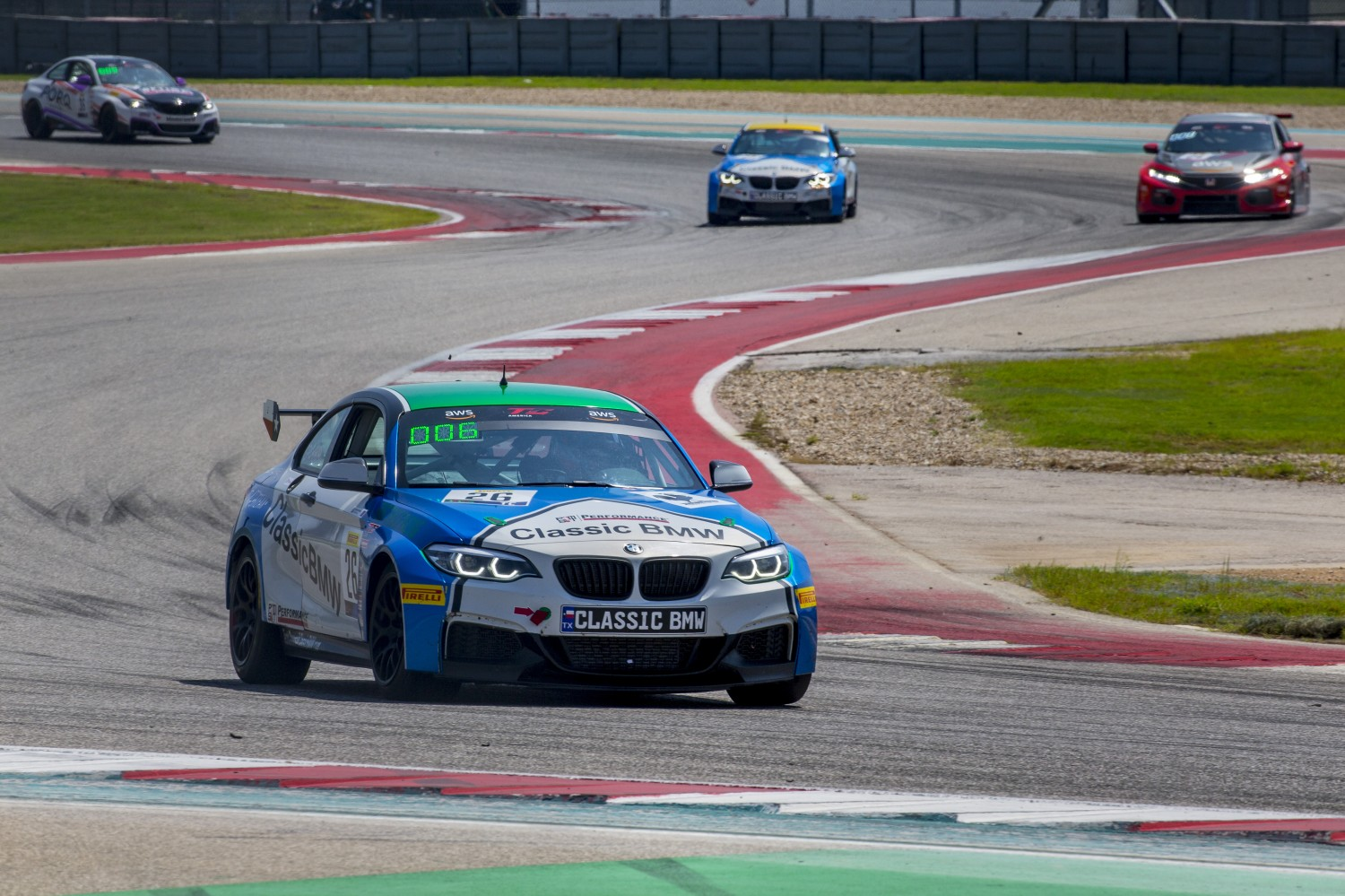 #26 BMW M240iR Cup of Toby Grahovec, Classic BMW, TC, SRO America, Circuit of the Americas, Austin TX, September 2020.