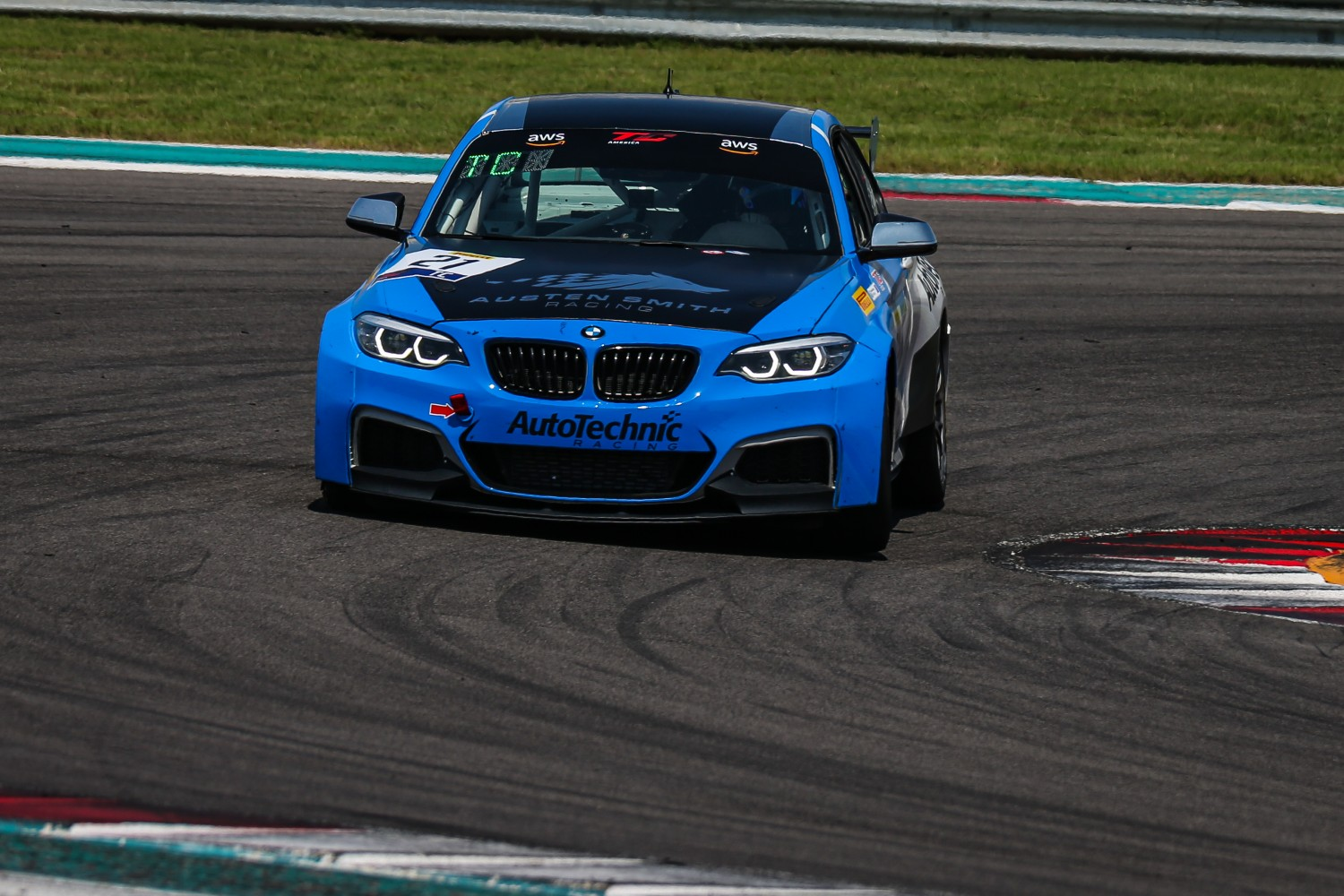 #21 BMW M240iR Cup of Austen Smith, Auto Technic Racing, TC, SRO America, Circuit of the Americas, Austin TX, September 2020.  | Sarah Weeks/SRO