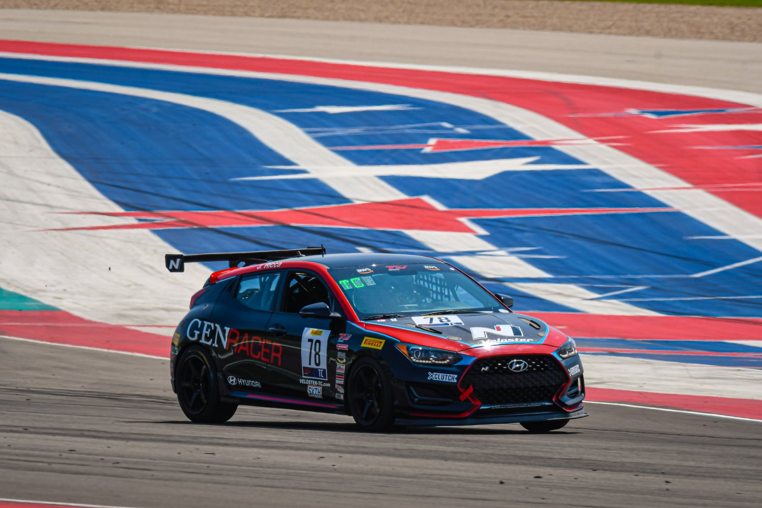 #78 Hyundai Veloster N of Jeff Ricca, GenRacer/Ricca Autosport, TC, SRO America, Circuit of the Americas, Austin TX, September 2020.  | SRO Motorsports Group