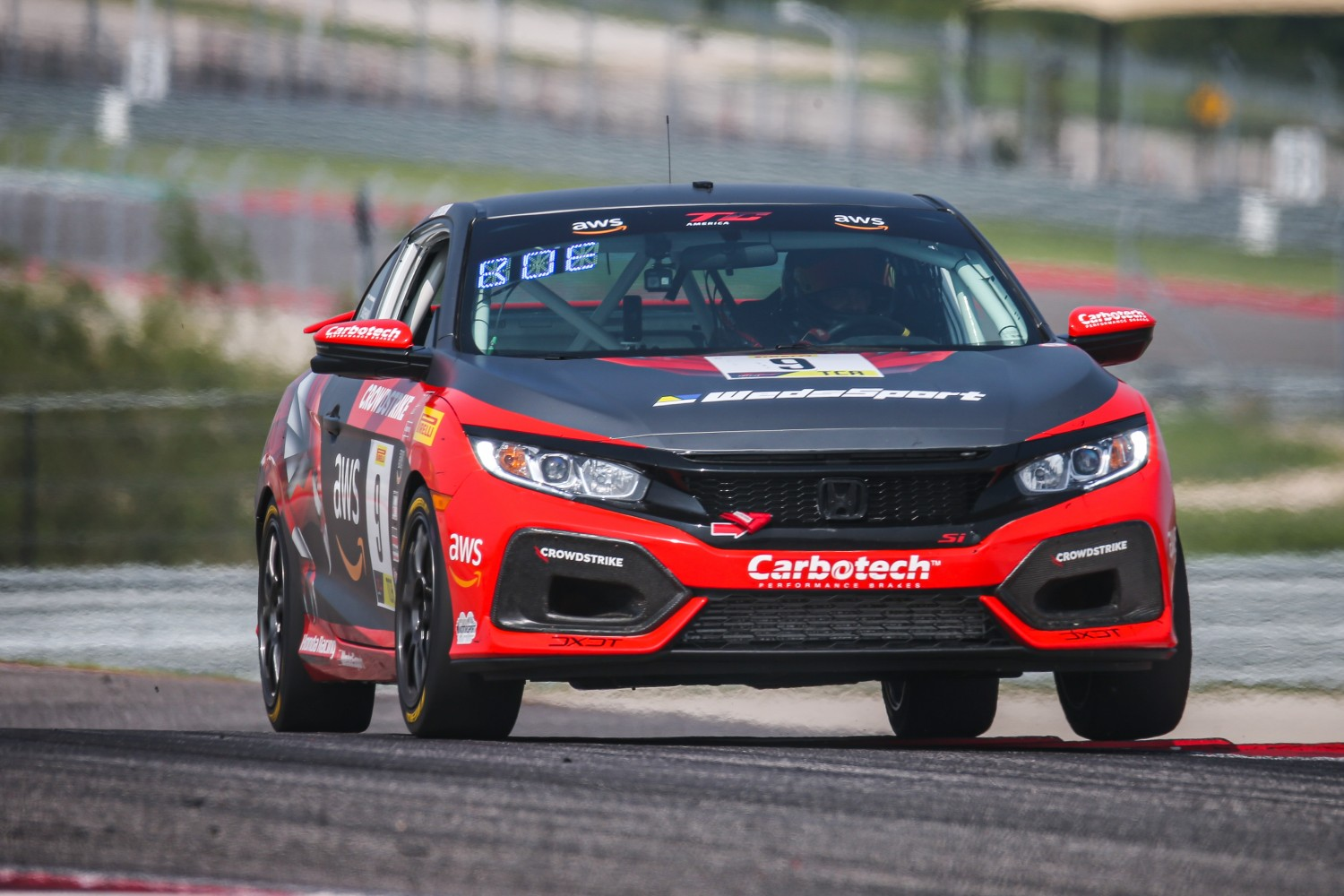 #9 Honda Civic Si of Kevin Boehm, Boehm Racing, TCA, SRO America, Circuit of the Americas, Austin TX, September 2020.  | Sarah Weeks/SRO