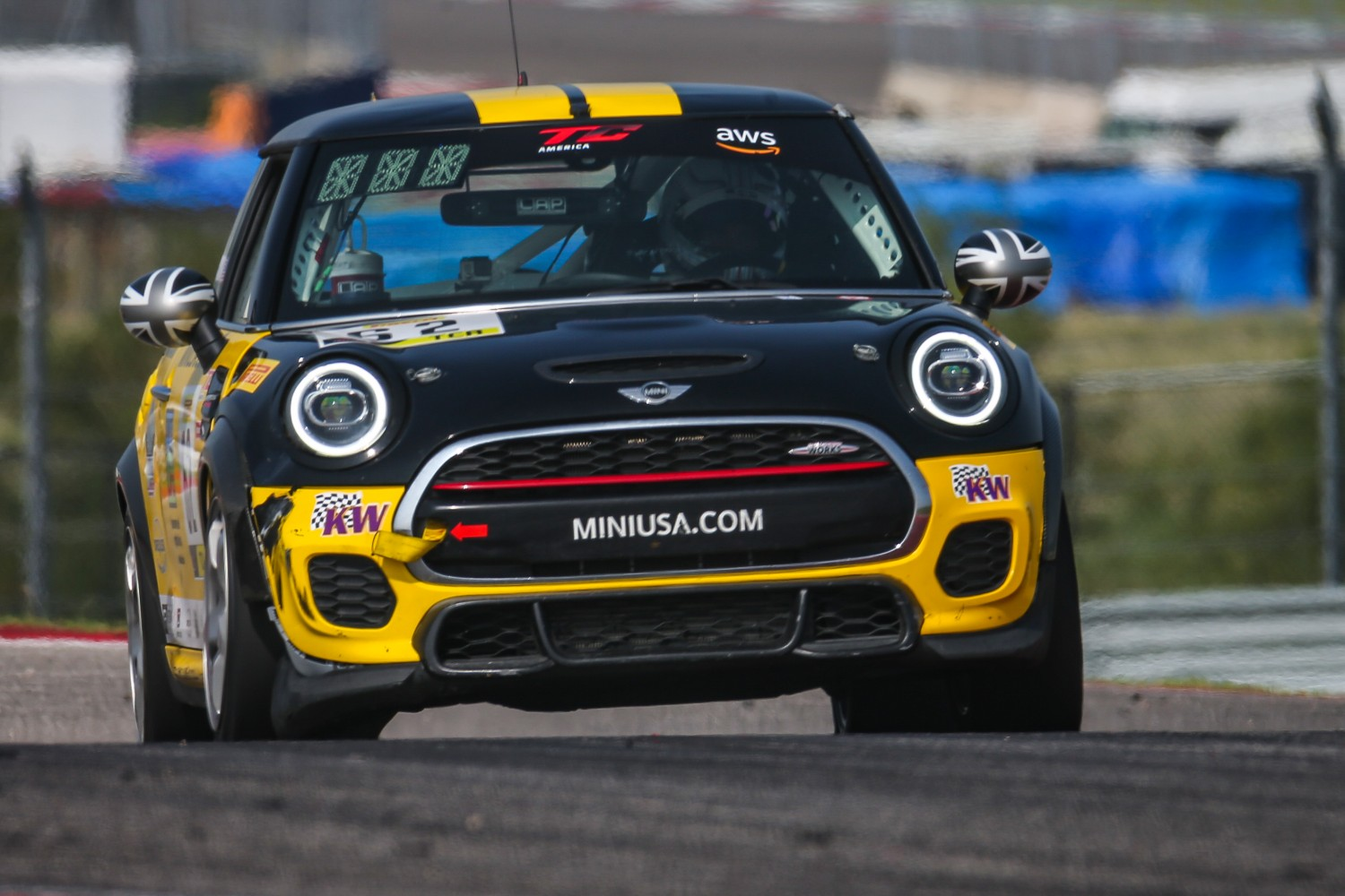 #62 MINI Cooper JCW of Clay Williams, MINI JCW Team, TCA, SRO America, Circuit of the Americas, Austin TX, September 2020.  | Sarah Weeks/SRO