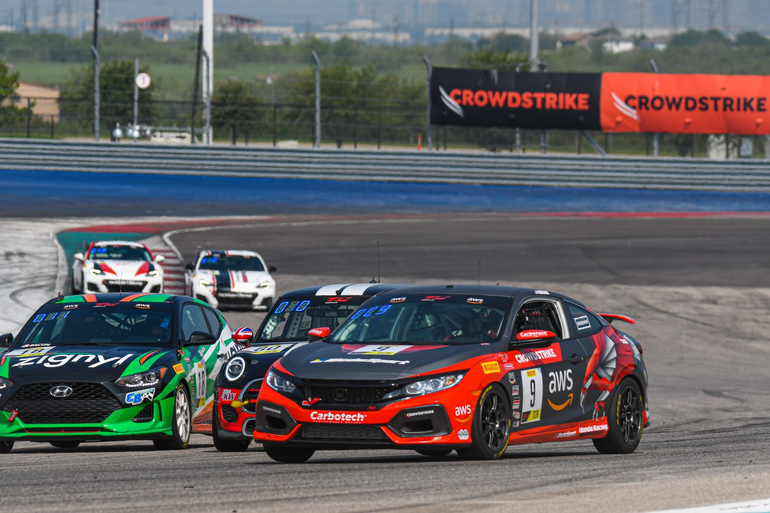 #9 Honda Civic Si of Kevin Boehm, Boehm Racing, TCA, SRO America, Circuit of the Americas, Austin TX, September 2020.  | SRO Motorsports Group