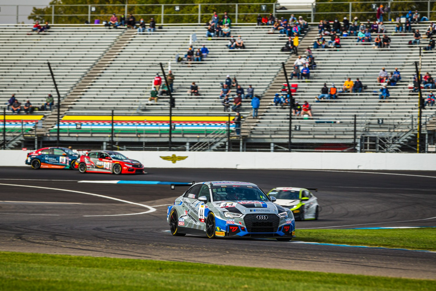 #44 Audi Sport RS3 LMS of Tristan Herbert, New German Performance, TC, IN, Indianapolis, Indianapolis Motor Speedway, SRO, September 2020.  | Fabian Lagunas/SRO